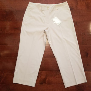 NEW! Nike Golf Fit Dry Cropped Pants Women's Sz 12